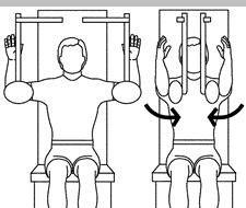 Pec Deck: Watch the tendency to go into upper back flexion at end ranges.